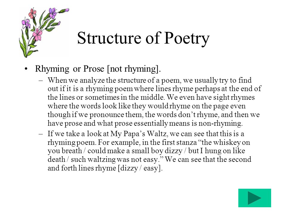 """""""POETRY"""" When We Analyze Poetry What We're Going To Do Is"""